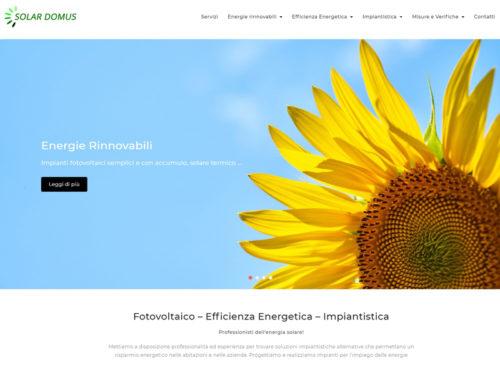 Sito web aziendale energie rinnovabili