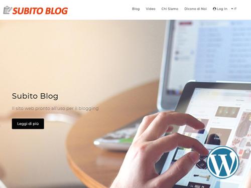 Subito Blog, sito web dinamico per Blogging