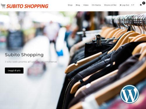 Subito Shopping, sito web dinamico per Ecommerce