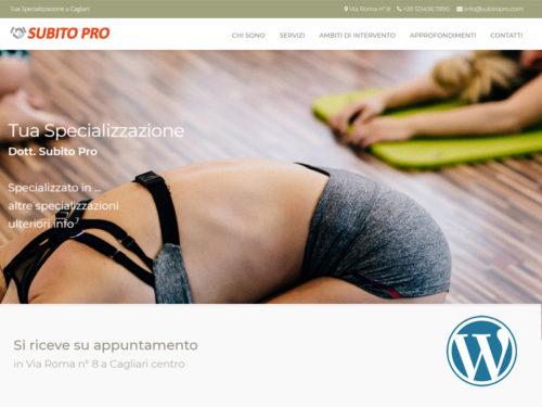 Subito Pro, sito web dinamico per professionisti